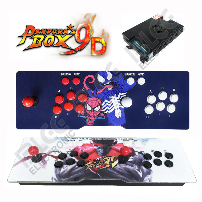 Pandora Box 9D 2222 in 1 Video Arcade Game Console for TV PC PS3 Monitor HDMI VGA out put with Pause arcade cabinet machine