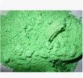 500 g/bolsa de Color Verde Manzana Verde En Polvo Nacarado de Mica polvo de Pigmento de La Perla En Polvo Sombra de Ojos Brillo Material de Revestimiento
