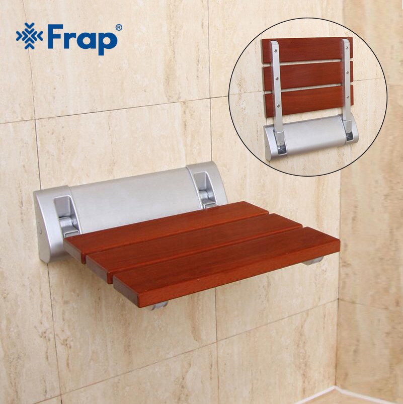 Frap New Wall Mounted  Shower Folding Seat Chairs Bench Folding Waiting Bath Bathroom Stool Relax Chair Stool Toilet