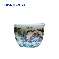 80ml Jingdezhen Ceramic Teacup Hand Painted Dragon Pattern Vintage Tea Cup Office Tea Ceremony Teaware Small Cha Bowls Drinkware|Teacups| |  -
