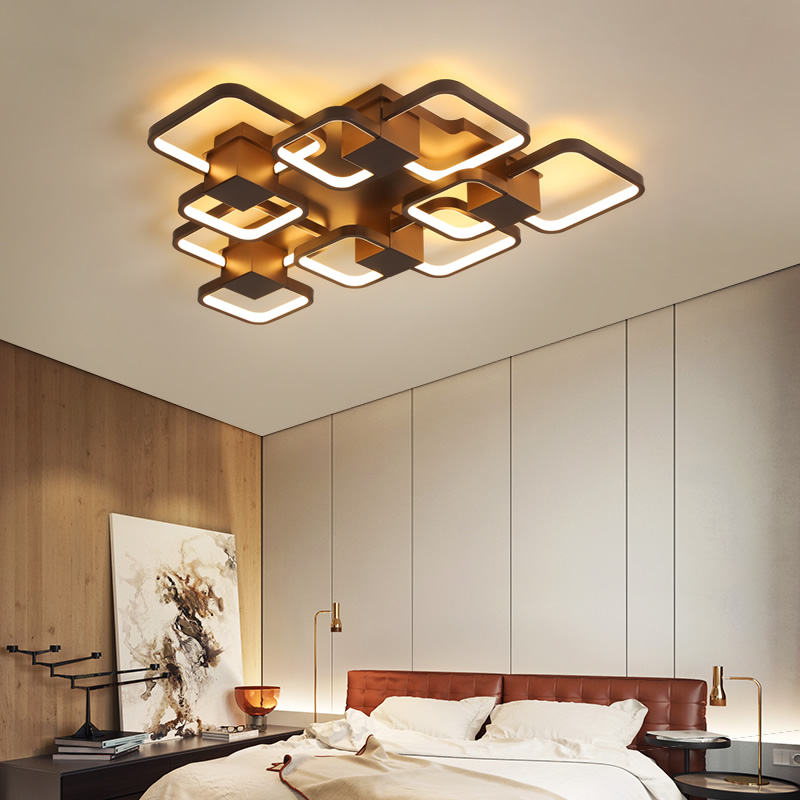 Modern Acrylic LED Ceiling Chandelier Living Room Overlap Large Deluxe Remote Control Chandelier Living Restaurant Lighting raw hem overlap skirt