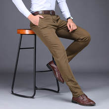 ICPANS 2019 New Spring Mens Fashion Business Casual Suit Pants Male Elastic Straight formal Dress Trousers Plus big Size 28-44