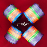 1000M SUNKO PE Brand Super Strong Japanese Colorful Multifilament PE Material Braided Fishing Line8 10 16