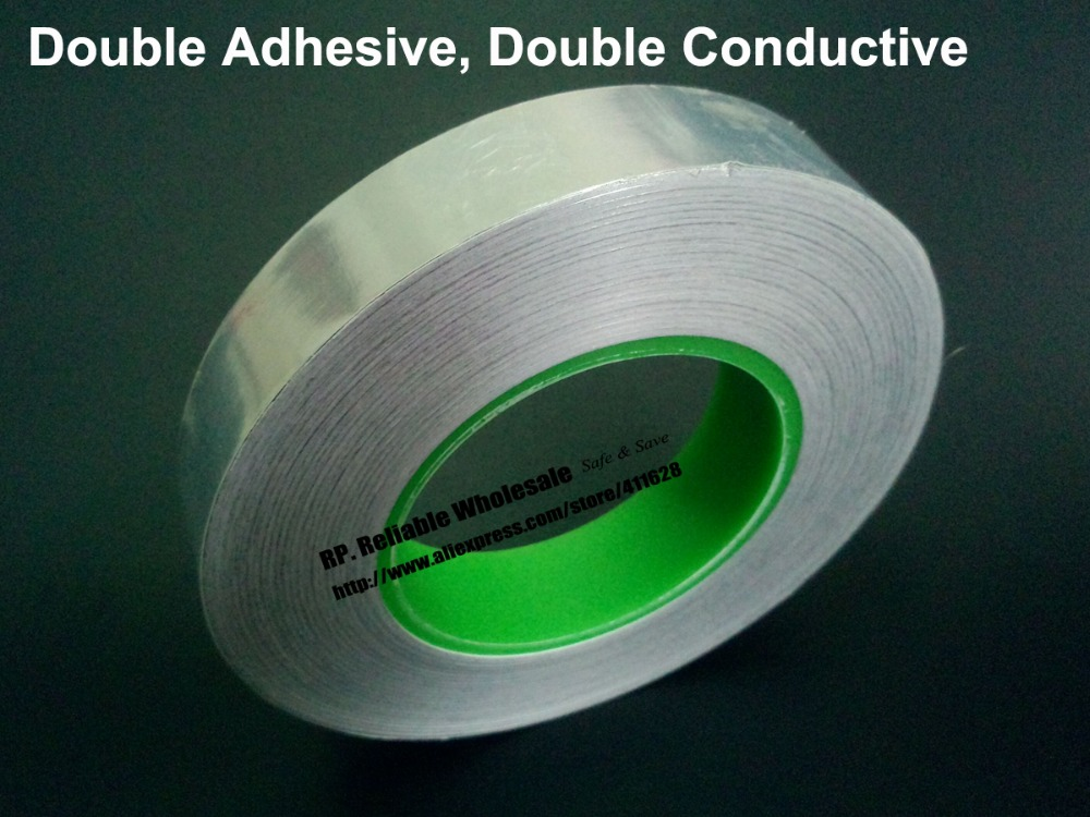 20mm*50M Double Sided Conductive, Double Sided Adhesive, Aluminum Foil EMI Shielding Tape hw50m 2k conductive plastic potentiometer cp 50