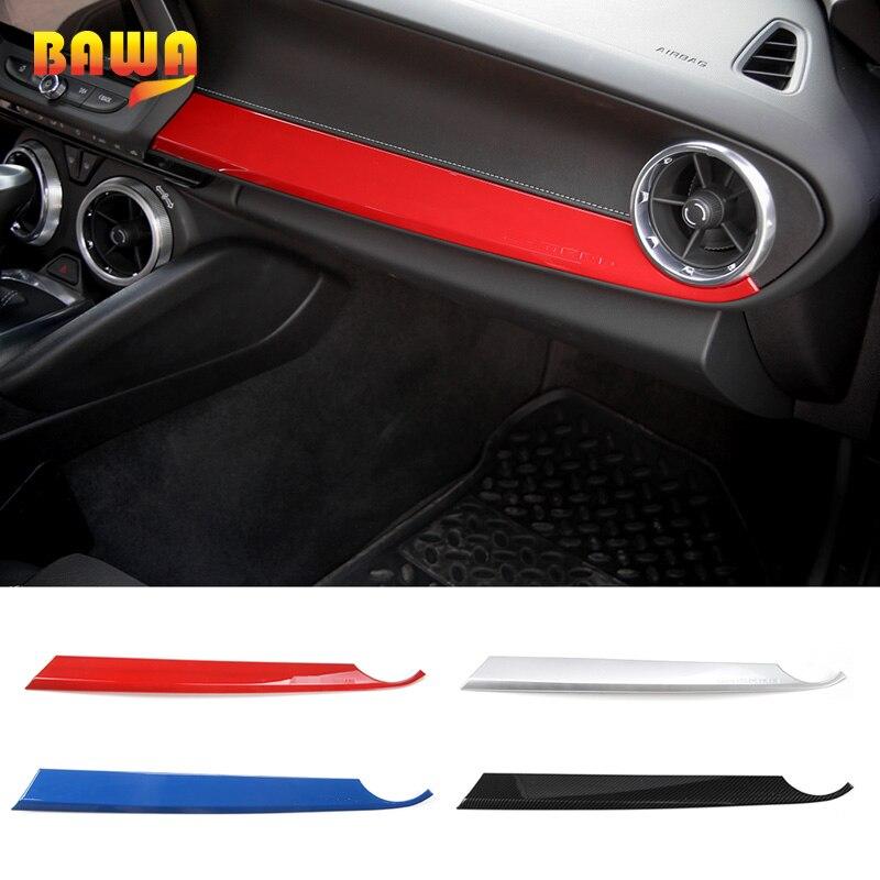 HANGUP ABS Car Front Copilot Passenger Seat Panel Decoration Trim Interior Stickers For Chevrolet Camaro 2017