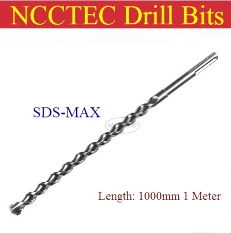 [SDS MAX 1000mm length] 14 16 18 20 22 25 28 30 32 35 38 40 42 45mm alloy carbide wall core drill bits | 1 meter Hammer hole saw