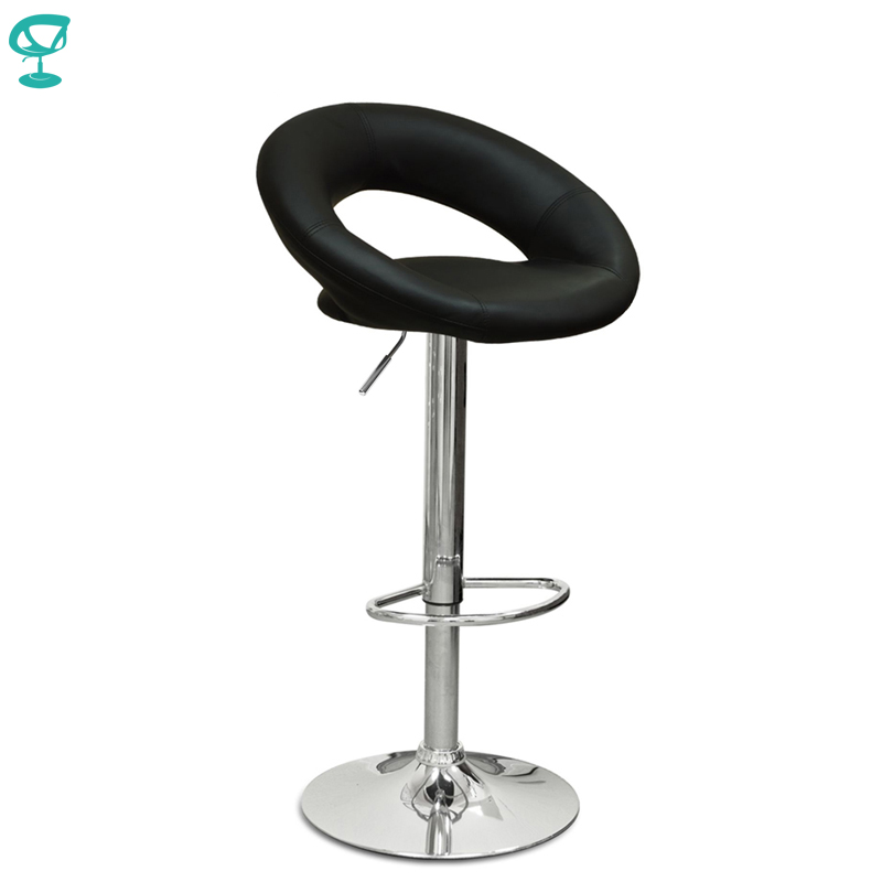 94499 Barneo N-84 Leather Kitchen Breakfast Bar Stool Swivel Bar Chair Black Color Free Shipping In Russia