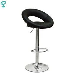 94499 Barneo N-84 Leder Küche Frühstück Barhocker Swivel Bar Stuhl schwarz farbe freies verschiffen in Russland