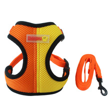 Double Color Matching Pet Harness Collar Dog Cat Control Dog Harness Nylon Mesh Vest Harness for Pet Puppy Collar Chest Strap