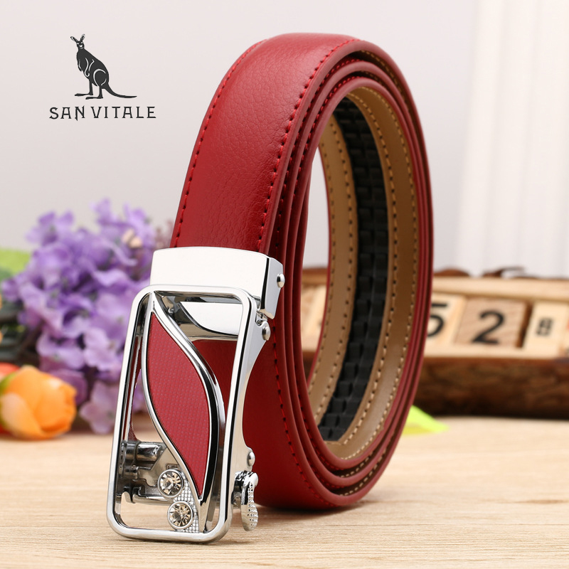 Women Belt Luxury Famous Designer Genuine Leather Strap Automatic Reversible Buckle Belts For Dress
