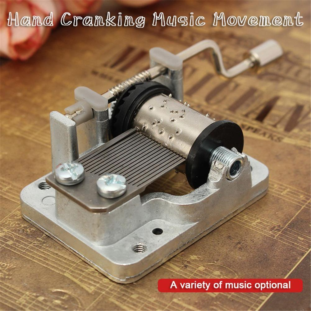 Hot Sale Metal Mini Music DIY Mechanical Hand Crank Craft Music Movement Decor Drop Shipping