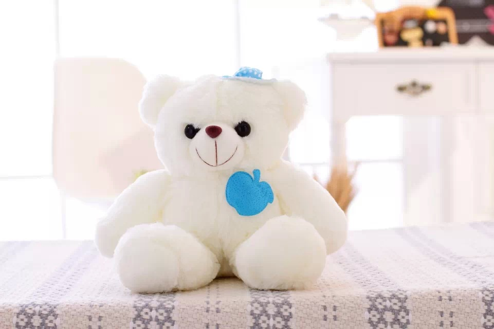 New hot 36 cm colorful glowing teddy bear luminous plush toy for Girl Children's Baby Birthday Gift Send Kids Lovely Soft Toy