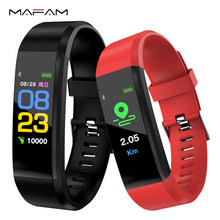 MAFAM Smart Bracelet Heart Rate Monitor Blood Pressure Monitor Fitness Tracker Step Counter Smartwatch Clock For Android IOS(China)