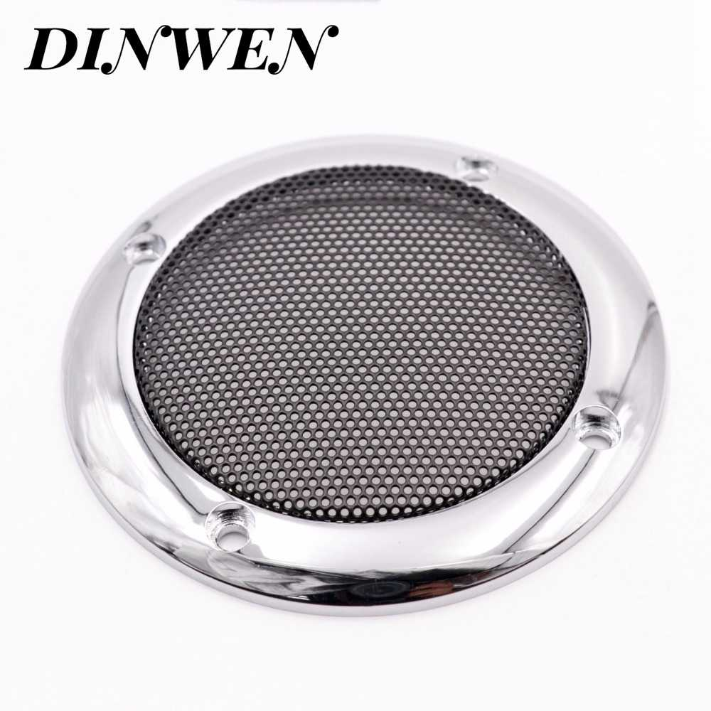 1PC Speaker Grill Mesh Cover 3.5 'Logam Plastik ABS Mobil Audio Subwoofer Tweeter Lingkaran Pelindung Cover
