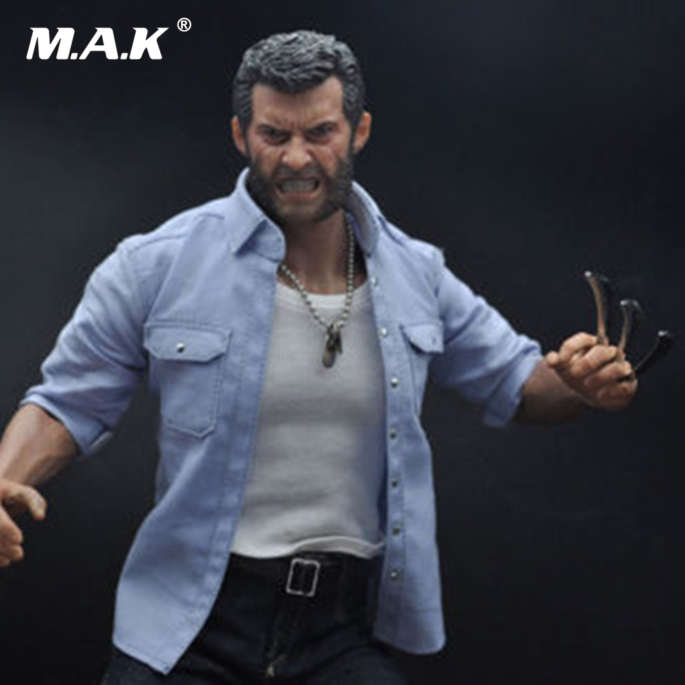 Burning Soul 1/6 Angry Wolverine Logan Figure Model 12'' Figure doll Model Toys Body+Head Sculpt+ Clothing set die shi spot burning the soul of a model burns 1 6 head carved figures are base contains mask