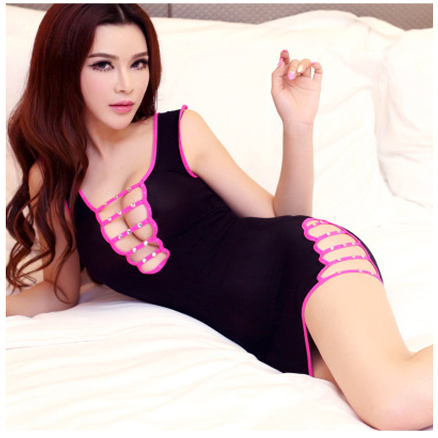 New 2017 Babydolls Dress Erotic Shining Lenceria Sexy Underwear Women Wear Hot Female Underwear Erotic Lingerie Sex Lace Pajam