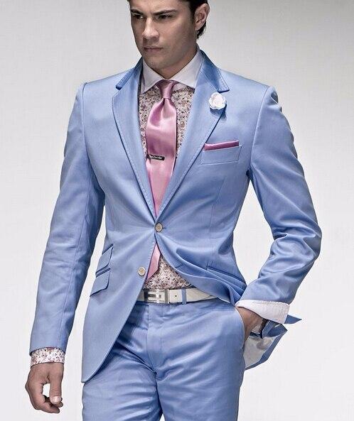 2015 hombres de trajes hechos a mano delgado hombre vestido formal ...