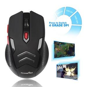 Image 5 - Rocketek USB Wireless Gaming Maus 1600 DPI 6 tasten optische ergonomische für overwatch spiel laptop computer Mäuse