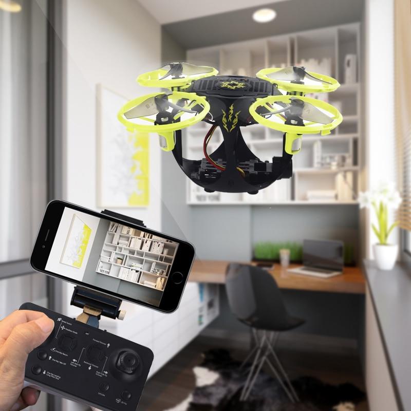 Nouveauté pliable pliable pliable Mini Drone RC avec caméra HD Wifi FPV Altitude tenir des jouets pour cadeau de noël FSWB