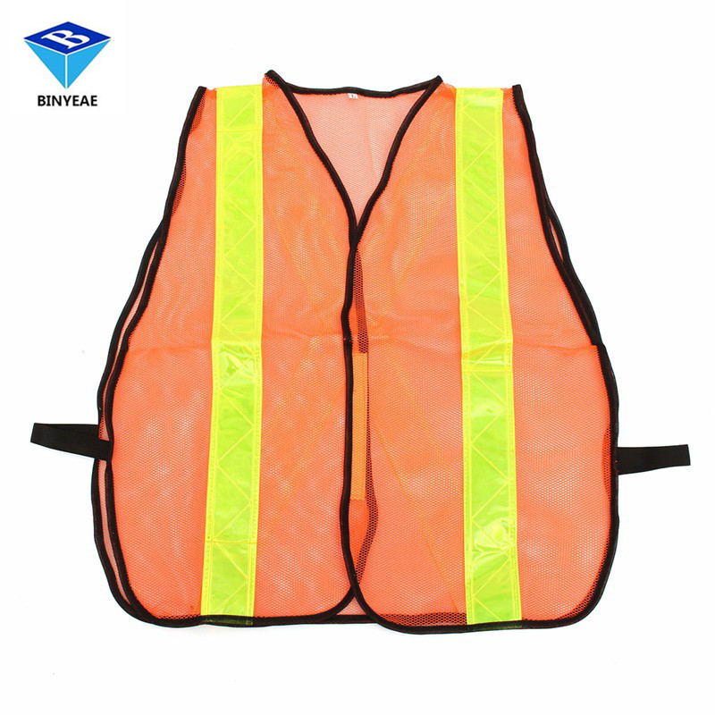 Reflective Vest Working Clothes Warning Safety Vest Provides High Visibility Day Night For Running Cycling Net Breathable Fabric