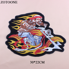 ZOTOONE Iron On Bike Patches For Clothing Sew Big Back Punk Patch Applique DIY Accessory Decoration Embroidery Clothes E