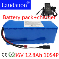 laudation 36V 8ah 10ah 12ah 12.8ah electric bicycle lithium battery rechargeable battery for 42V 12.8ah 500W motor with 15A BMS