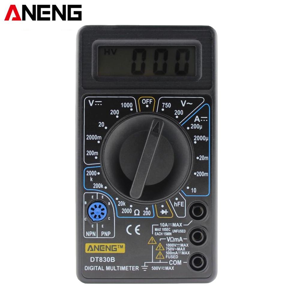 цены ANENG DT830B Mini LCD Digital Multimeter Electric Voltmeter Ammeter Ohm Tester AC/DC 750/1000V Amp Volt Ohm Tester multi meter