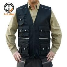 2017 Men Jacket Vest Multi Pocket Travel Photographer Vest Spring Summer Male Plus Size Pocket Jacket Brand Clothing ID645