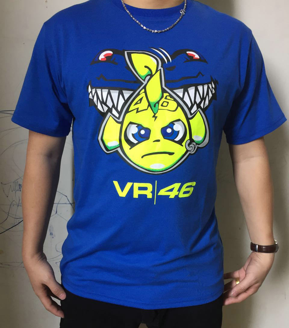 Motorcycle T-shirt VR46 Rossi shark fish t-shirt MOTO-GP motorcycle tutors cotton T-shirt Tops