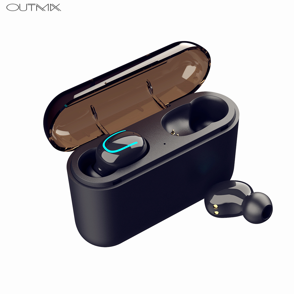 <font><b>TWS</b></font> Bluetooth 5.0 Earphones Wireless Headphones IPX5 Waterproof Sport Mini Wireless Earbuds Cordless Headset With Mic For phone image