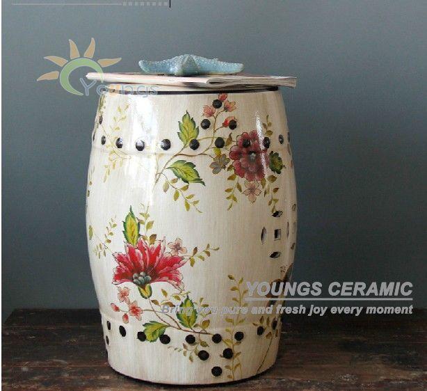 Modern hot-venda chinês fezes jardim de flores de cerâmica para decoração de casa
