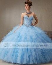 Novo 2017 vestido de baile vestidos quinceanera querida sparkly sweet 16 ano da princesa vestidos para crianças de 15 anos vestidos de 15 años(China (Mainland))