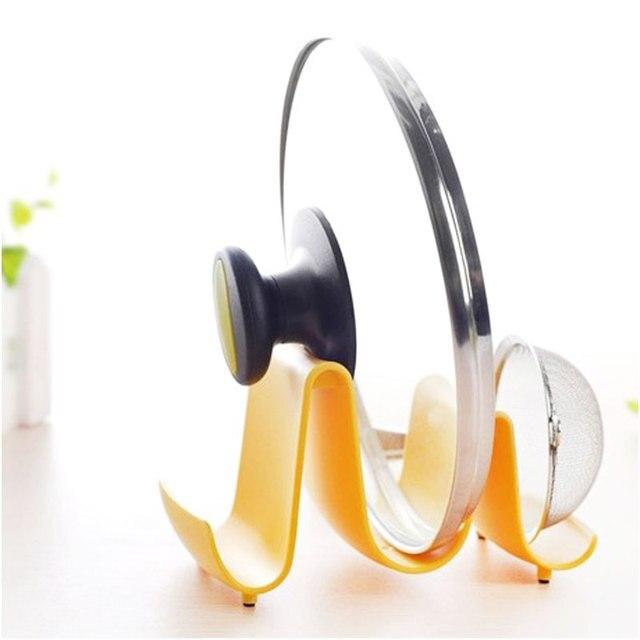 New Kitchen Portable Spoon Pot Lid Shelf Cooking StorageTool Stand Holder  Wave Design #57968