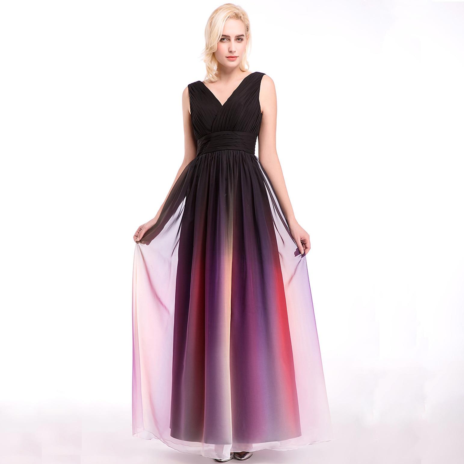 Длинные платья с градиентом