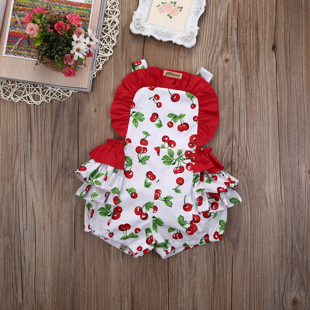 2016 Newborn Infant Baby Girls Floral Ruffle Romper Jumpsuit Sunsuit Tutu Skirted Rompers Outfits Clothes 0-24M new arrival boy costumes rompers cotton newborn infant baby boys romper jumpsuit sunsuit clothes outfits