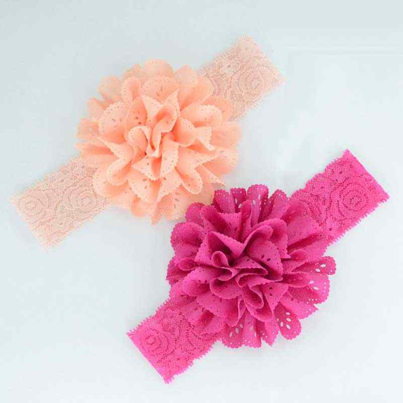 91d6ad2ac79d ... Rose Ribbon Hair Bands Handmade DIY Headwear Photo Prop 3D Flower  Hairband Kids Child Newborn Baby ...