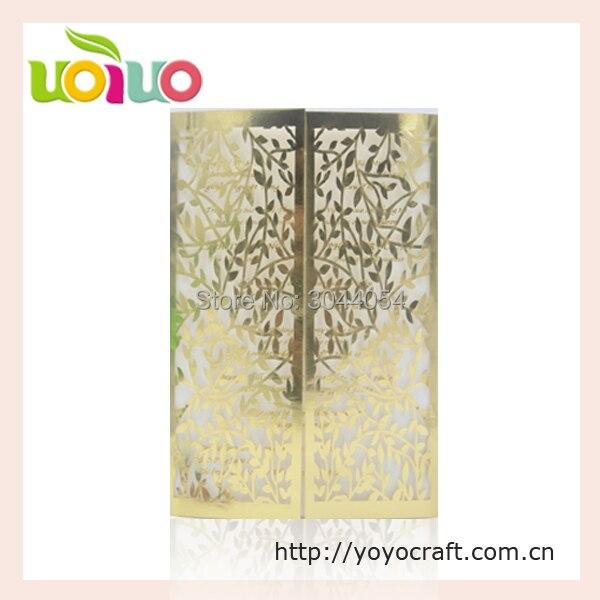 Hochzeit Dekoration Metallic Gold Papier Vintage Blatter Hochzeit