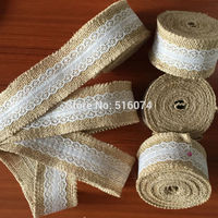 Hot Sale 10 Meter Rolls Ivory Natural Jute Burlap Hessian Ribbon LaceTrims Tape Rustic Vintage Party