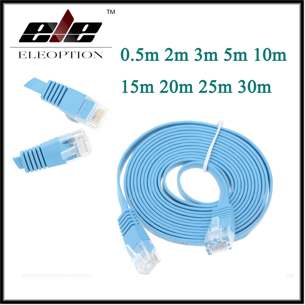 30m//98.42ft Cat6 Ethernet Flat Cable RJ45 Computer LAN Internet Network Cord