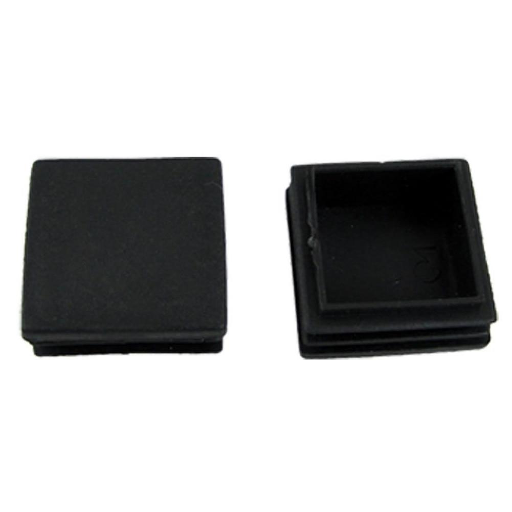 цена на Hot Sale Plastic Square Tube Inserts End Blanking Cap 38mm x 38mm 10 Pcs Black