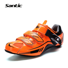 Santic Cycling Shoes Lightweight Carbon Fiber Professional Racing Road Bike Shoes Self-Locking Bicycle Shoes Ciclismo Zapatos