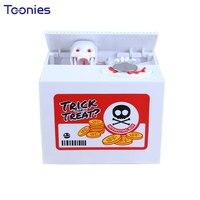 Skull Szef Światła Szczególności Skarbonka Dziecko Dźwięki Pudełka na Prezenty Rzeki Zbiorniki Ghosts Power Saving Money Box Szkielety Zabawki