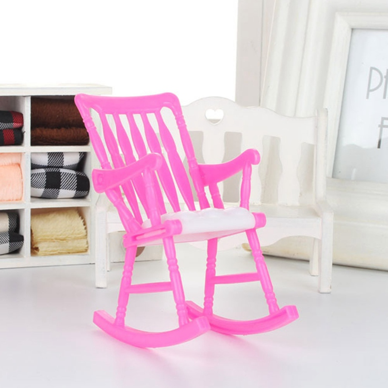 Us 0 62 Play House Toy Dollhouse Furniture Random Color Accessories Rocking Chair Children Toy Gift Mini Doll Chair Diy In Dolls Accessories From