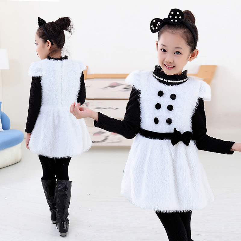 52b0ef7f2 Children's Fashion Clothes Baby Girl Winter Dress Girls Fleece Thick Warm  Winter Dress,Vestidos Little Girl Party Dress 0 4 age-in Dresses from  Mother ...