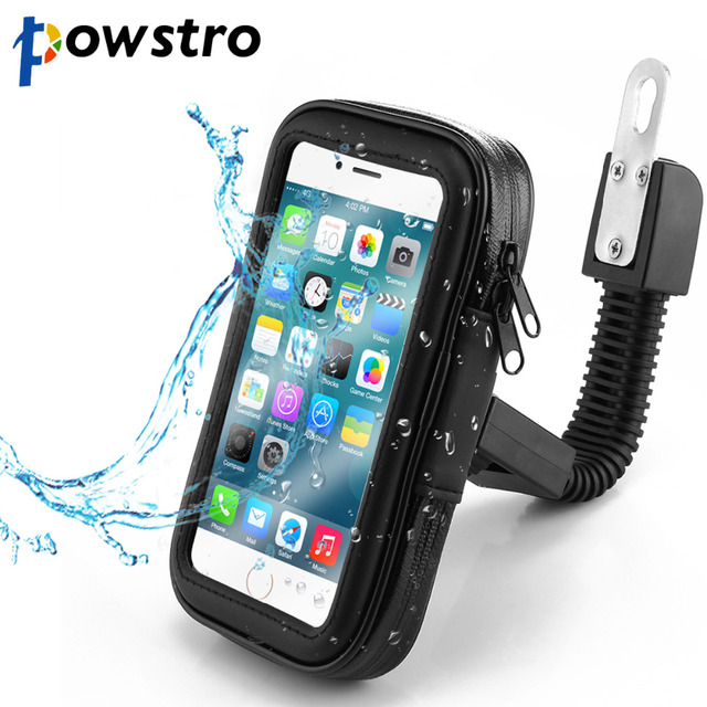 best service 4dd29 f9d8d US $10.14 40% OFF Powstro Waterproof Cell Phone Holder Universal Anti Rain  Snow Drops Phone Stand Bag Case for Motorcycle with 3 Specification -in ...