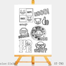 AZSG Excited attitude Clear Stamps/seal for DIY Scrapbooking/Card Making/Photo Album Decoration Supplies