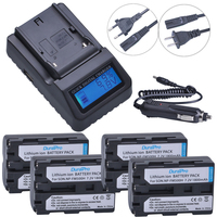 4pc 7.2V NP FM500H NP FM500H Rechargeable Camera Battery + LCD Quick Charger For Sony FM500H A57 A65 A77 A99 A350 A550 A580 A900