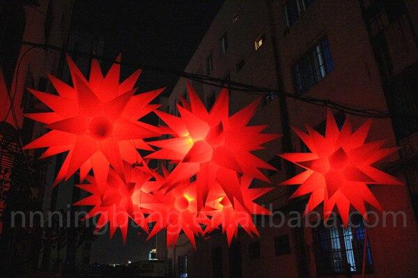 Livraison gratuite diamètre 1.5 m nouveau produit LED décoration de mariage étoile gonflable