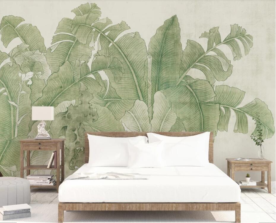 Tropical Leaves Wallpaper 3d Wall Murals Wallpaper For