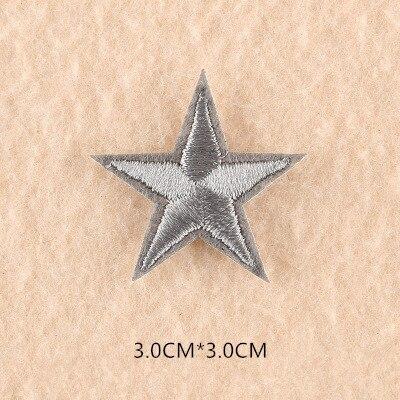 1 шт. смешанные нашивки со звездами для одежды, железная вышитая аппликация, милая нашивка эмблема на ткани, одежда, аксессуары для одежды DIY 61 - Цвет: 61N